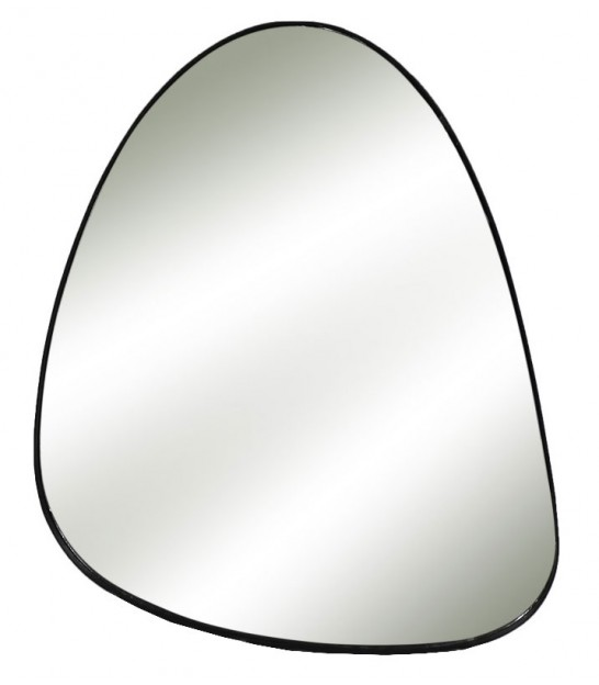 Wall Mirror Black Oval - Height 70cm