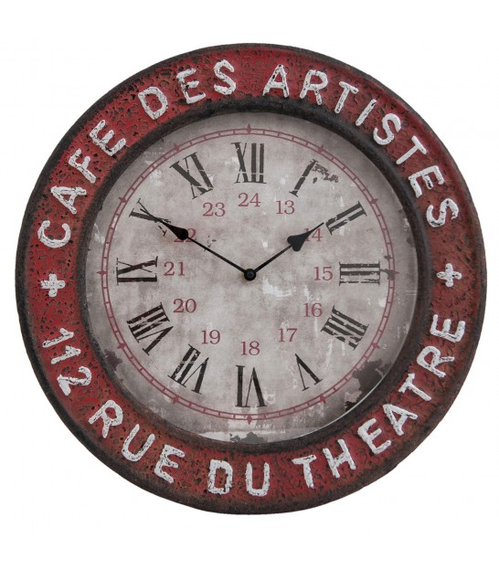 Red Round Wall Clock Artists