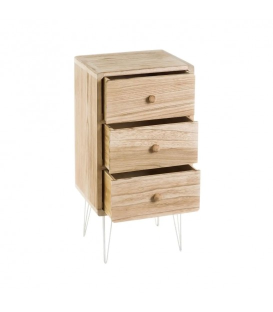 Bedside Table 2 Drawers Pawlonia