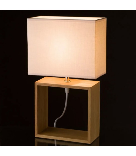 Table Lamp Wood and White