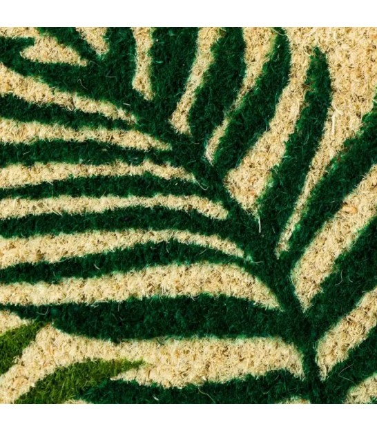 Coco Doormat Tropical Leaves Greene - 75x45cm