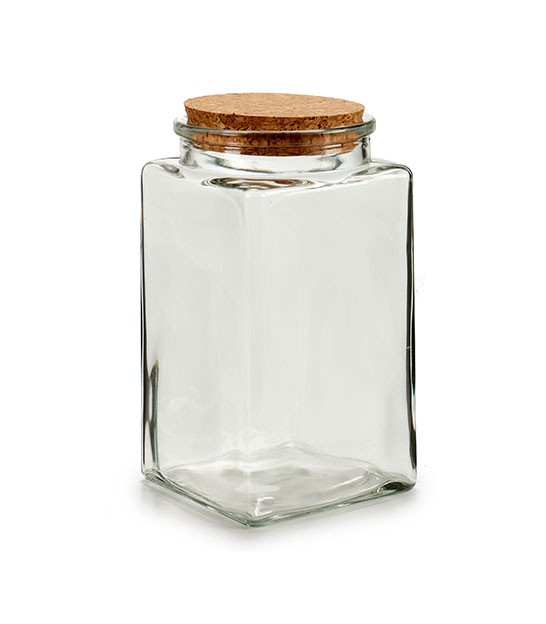 Kitchen Square Glass Jar Hermetic Lid
