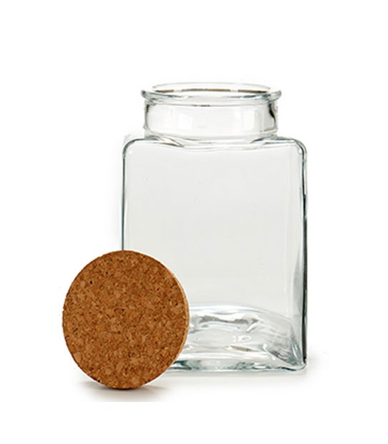 Kitchen Glass Jar Cork Lid - H23cm