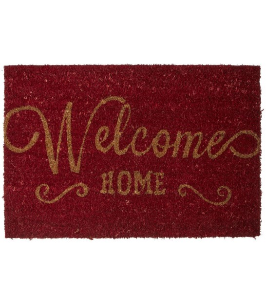 Paillasson Coco Rouge Welcome Home - 60x40cm