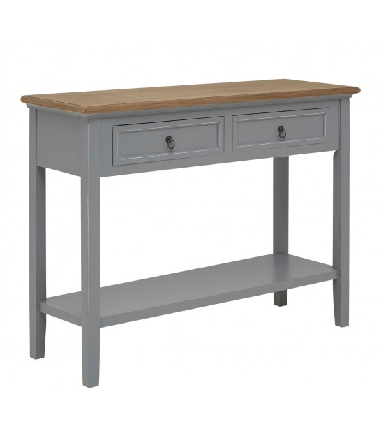 Entrance Console Table 2 Drawers Grey