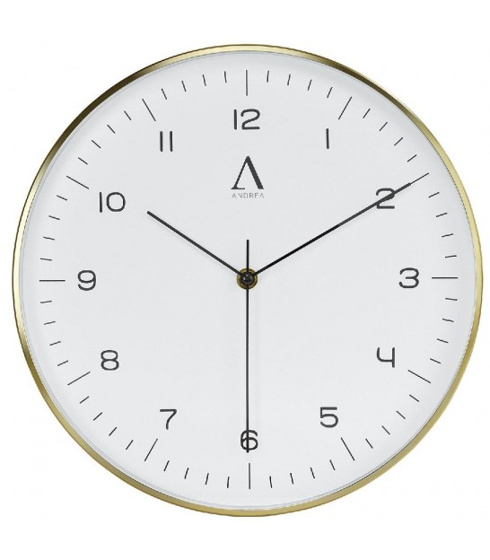 Round Wall Clock Golden Metal - diameter 31cm