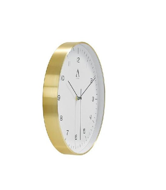 Square Wall Clock Golden Metal - 28.5x28.5cm