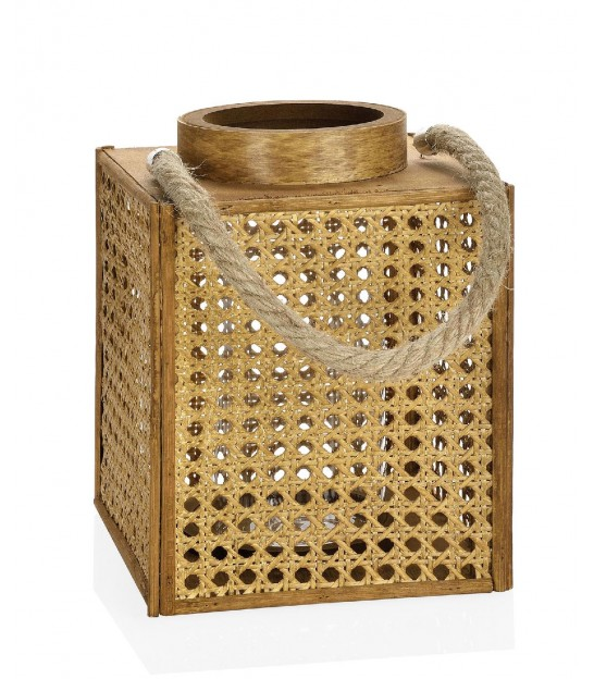 Bamboo and Metal Lantern
