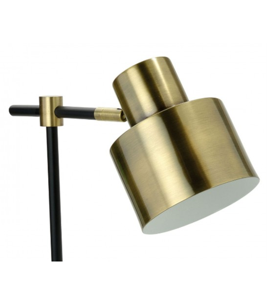 Table Lamp Black and Golden Metal