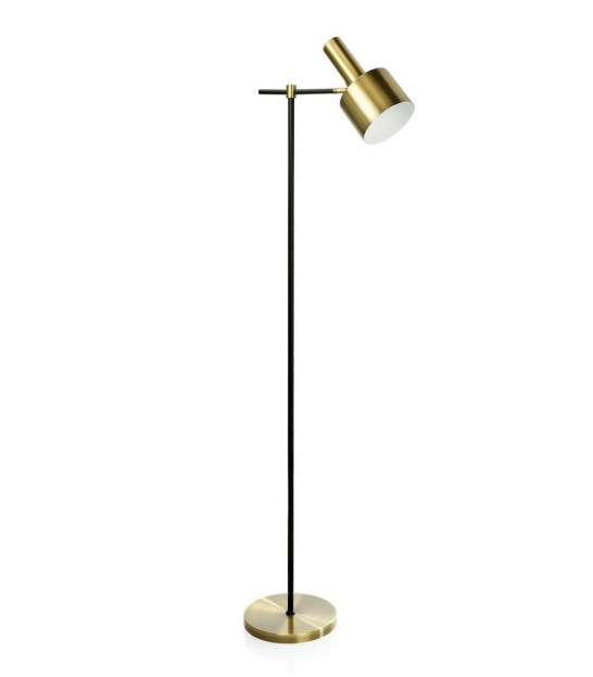 Table Lamp Black Metal and Golden Brass