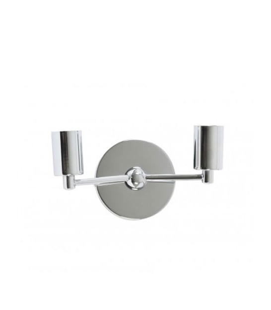 Double Wall Lamp Metal Chrome