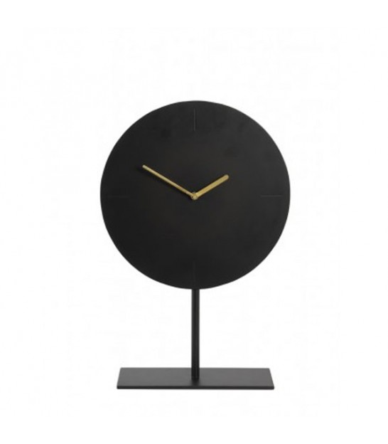 Design Clock on Base Black Metal