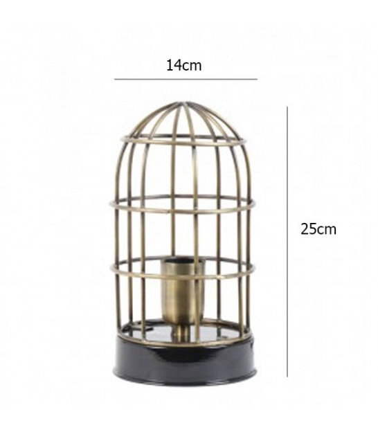 Design Table Lamp Cage Bronze