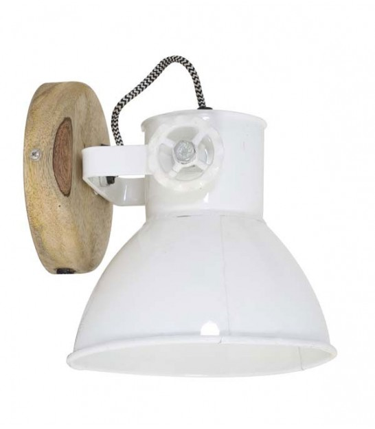 Wall Lamp White Metal Industrial Style