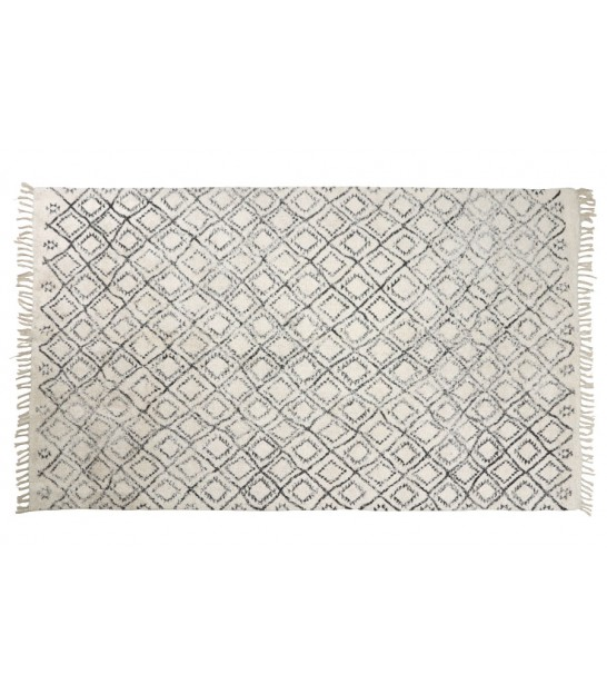Rug 100% Polyester White and Black - 160x230cm