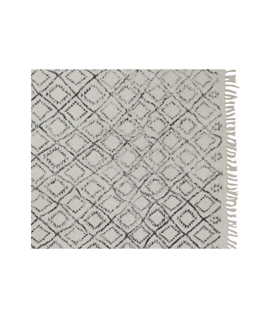 Grand Tapis Noir et Blanc Triangles - 160x230cm