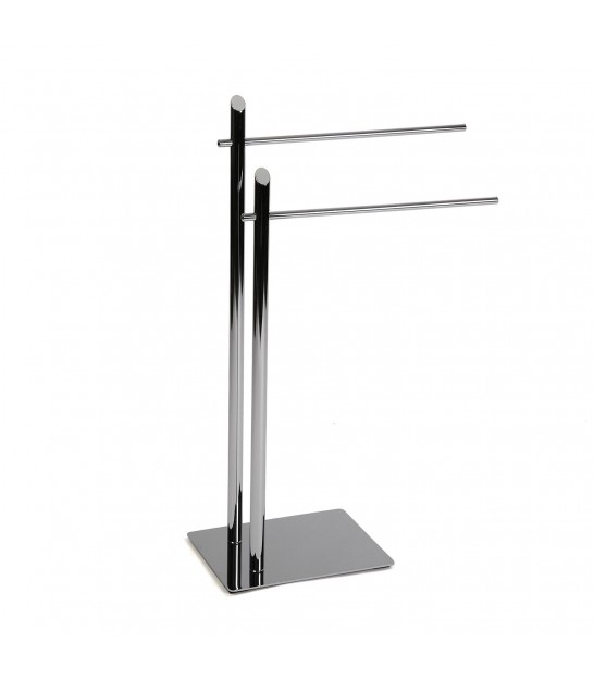 Chrome Metal Towel Rack