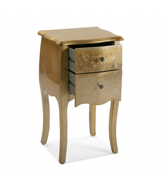 Nightstand Wood and Metal White