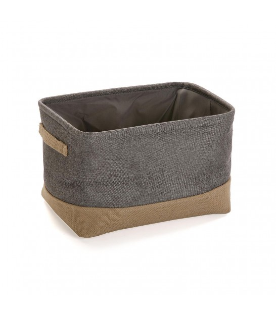 Bathroom Storage Basket Grey Tissue and Bamboo