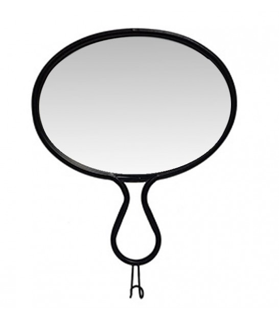 Wall Mirror Black Metal with Hook