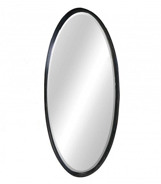 Wall Mirror Black Oval - Height 90cm