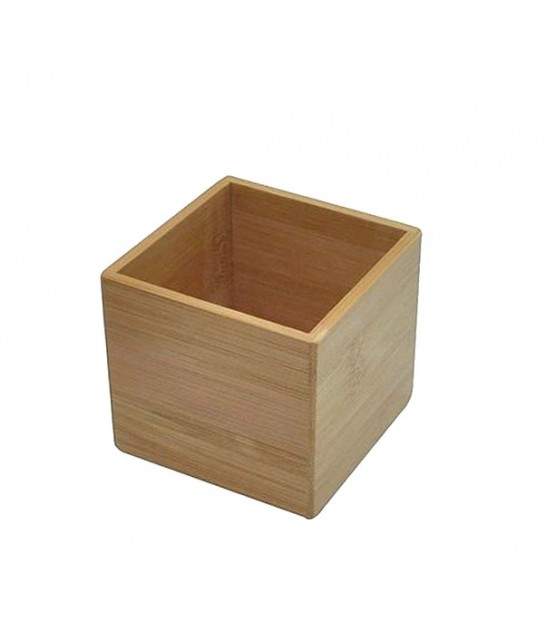 Bathroom Organizer Box Bambou Square - 7.5x7.5x6.5cm