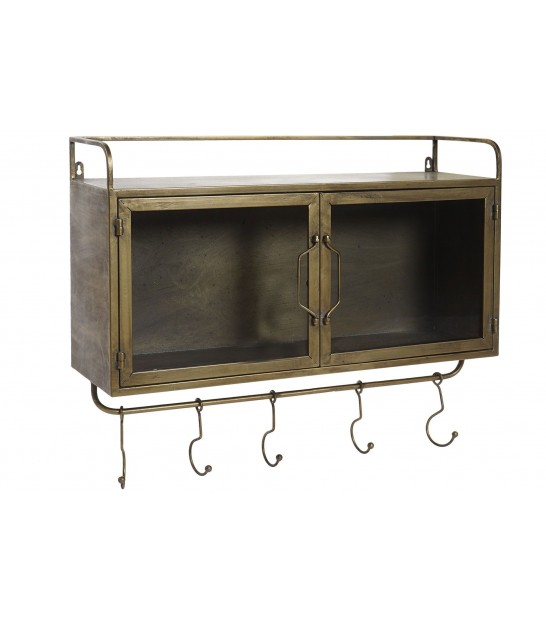 Wall Shelf Metal with 5 Hooks