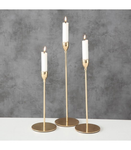 Set of 3 Candlestick Gold