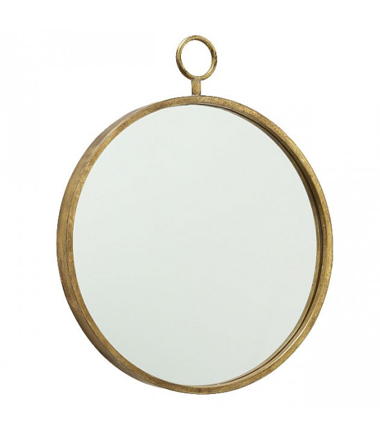 Wall Mirror Round Golden Metal - Diameter 55cm
