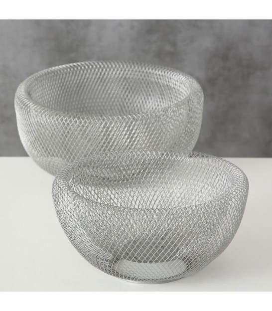 Set of 2 Decorative Fruits Baskets Silver