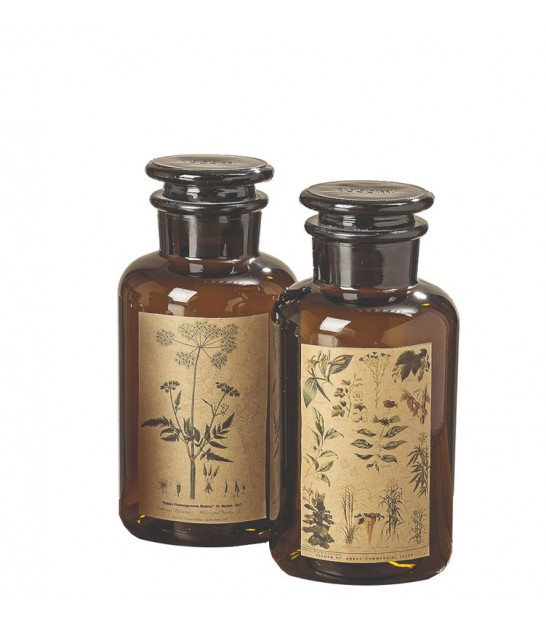 Set of Two Apothecary Bottles - 18cm