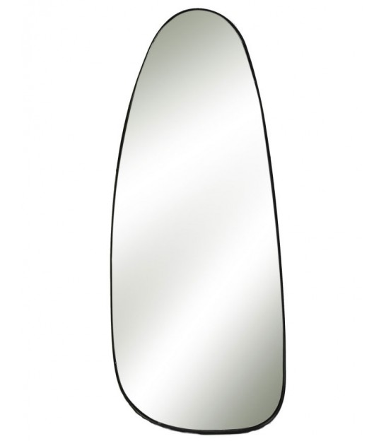 Wall Mirror Black Metal - Height 95cm
