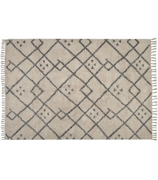 Rug 100% Polyester White and Black - 60*90cm