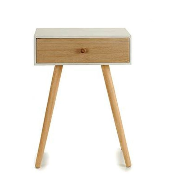 Bedside Table with 1 Drawer - Height 46cm