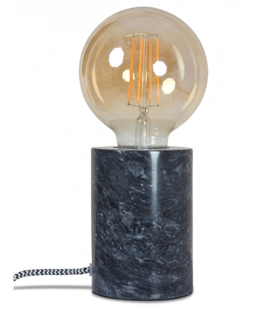 White Marble Lamp - Diameter 7.5cm x Height 10.5cm