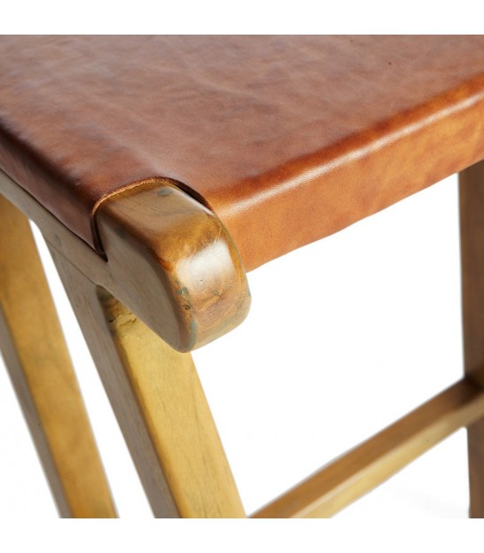 Tabouret de Bar Design en Chêne Naturel