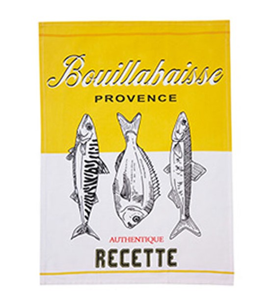 Tea Towel 100% Cotton Bouillabaisse - 70x50cm