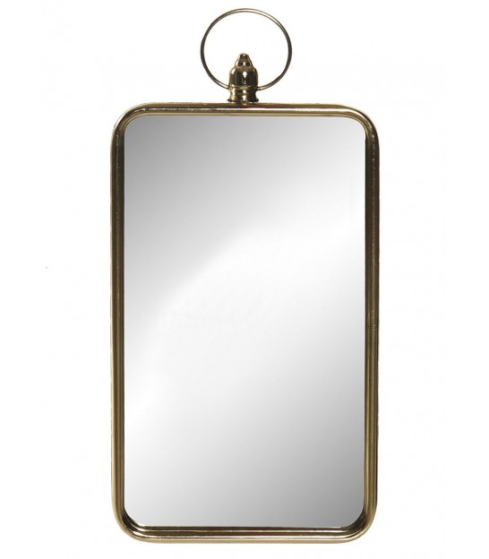 Golden Metal Drop Beveled Mirror