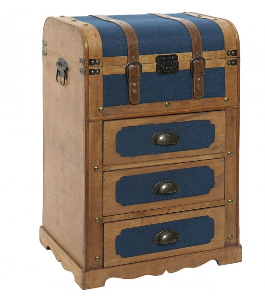 Chest of Drawers 3 Drawers Blue