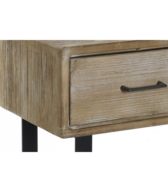 Console Table 3 Drawers White and Gold