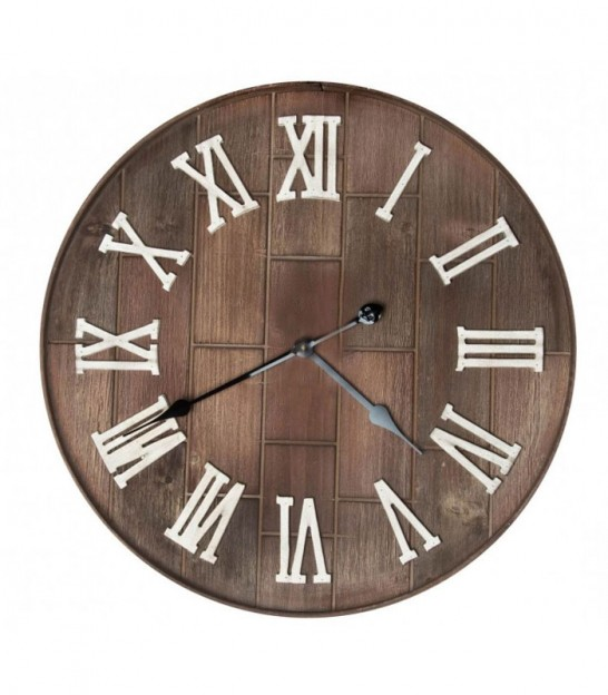 Wall Clock Wood - 61cm