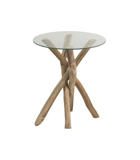 Side Table Round Rattan