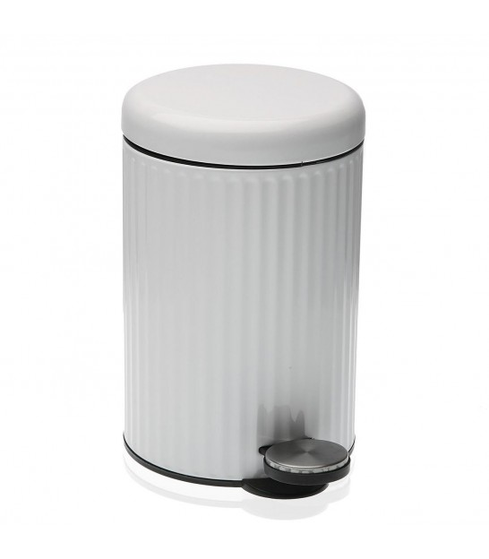 Bathroom Bin White Metal
