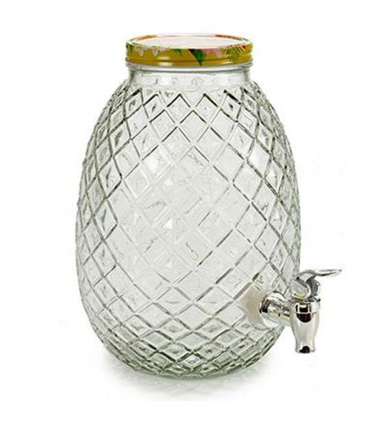 Glass Drink Dispenser Pineapple