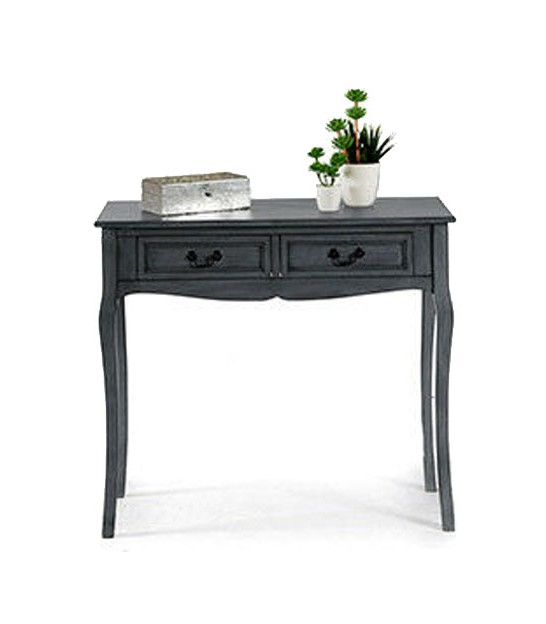 Entrance Console Table 3 Drawers Grey