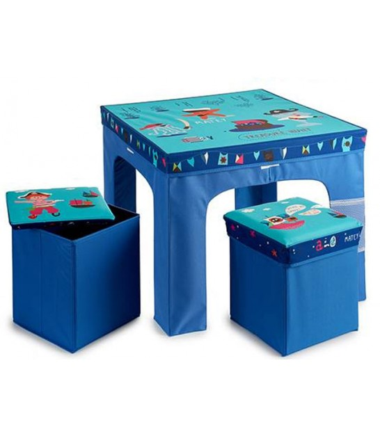 Table + Stools Blue Kids