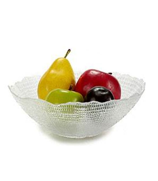 Fruit Basket White Marble and Golden Brass