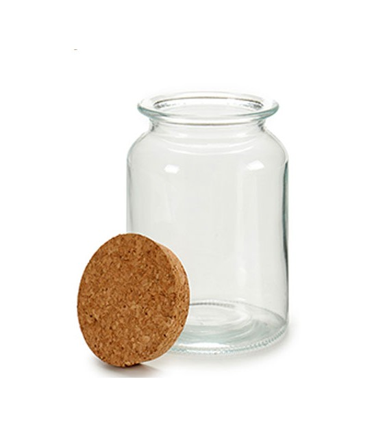 Kitchen Glass Jar Cork Lid - H18cm