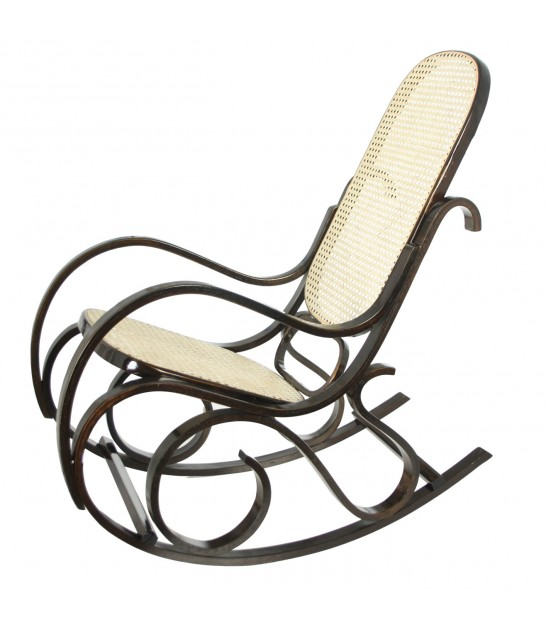 Fauteuil à Bascule Rocking Chair en Rotin Naturel