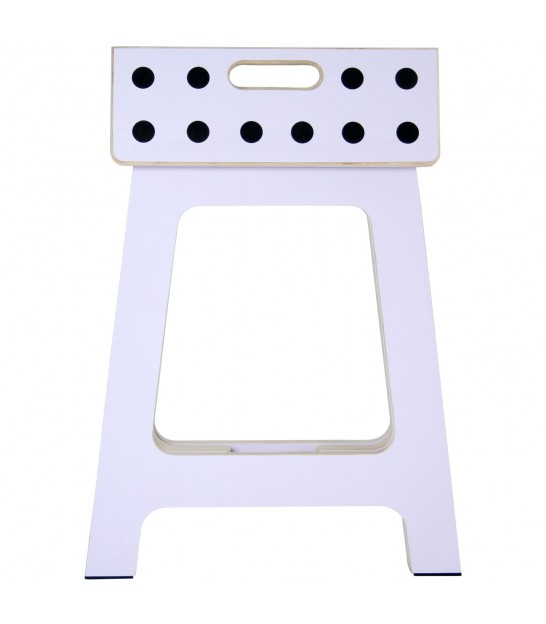 White Foldable Step Stool - Height 40cm
